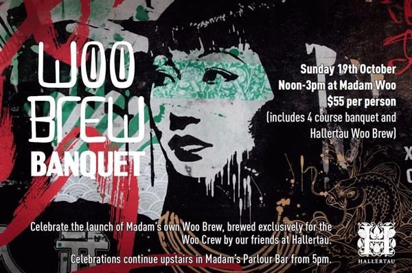 JOIN US AT MADAM WOO TO LAUNCH THE WOO BREW